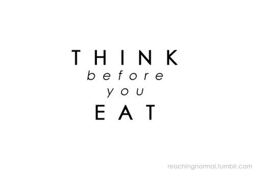 think before you eat Think before you eat by helen pratt, project manager, interface food & drink the food industry has been ingenious in developing ways to take the.
